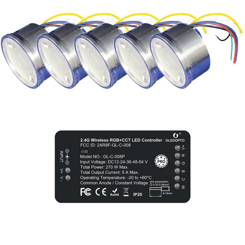 RGBW 4W spotlight SET ZigBee light control compatible