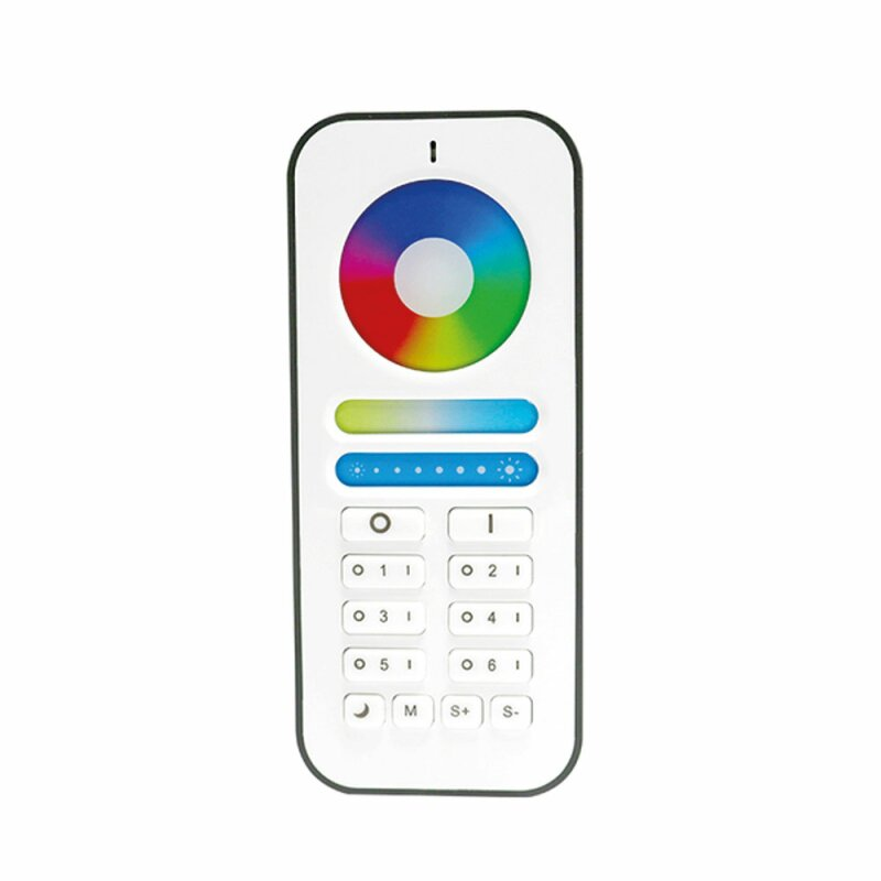 Remote control to LED controller 2.4G for RGBCCT lighting 6-channel zones WiFi Wlan