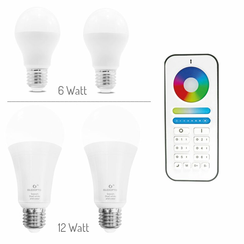 LED E27 bulb ZigBee Light Link starter set with remote control