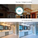 ZigBee PRO ceiling spotlight with RGB color change and CCT control